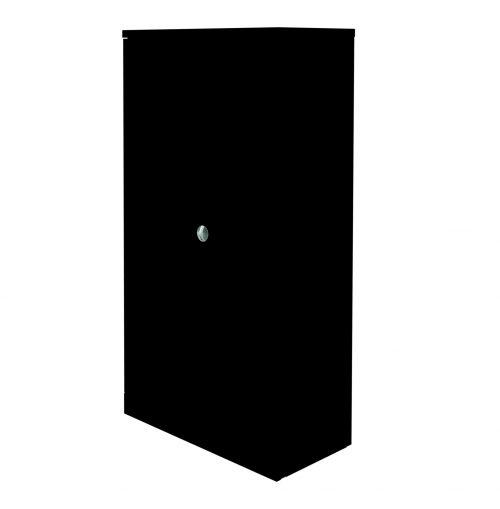 Graviti Plus Contract Stationery 1850mm 2-Door Cupboard Black No Shelves