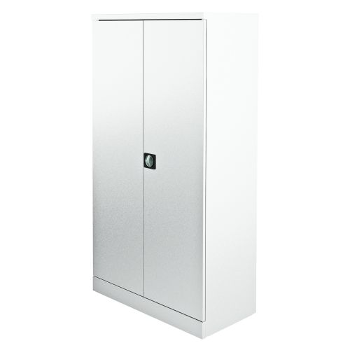 Graviti Plus Contract Stationery 1850mm 2-Door Cupboard Chalky White No Shelves