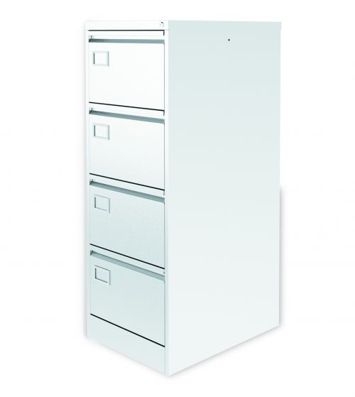 Graviti Plus Contract 4 Drawer Filing Cabinet Chalky White