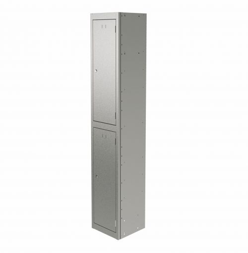 Graviti Plus Contract Locker 2 Door 1800mm High 450 Deep Goose Grey