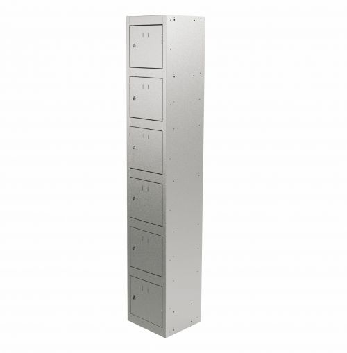 Graviti Plus Contract Locker 6 Door 1800mm High 450 Deep Goose Grey