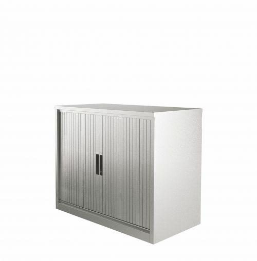 Graviti Plus Contract 1000mm Side Tambour Cupboard Goose Grey No Shelves