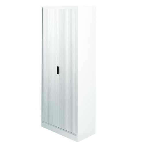 Graviti Plus Contract 2000mm Side Tambour Cupboard Chalky White No Shelves