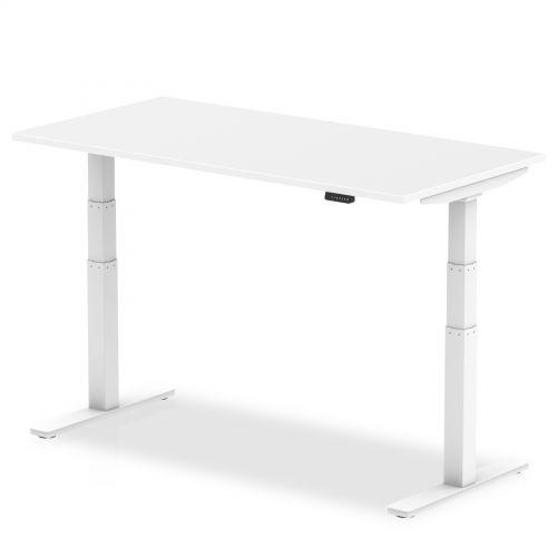 Air 1400/800 White Height Adjustable Desk With White Legs