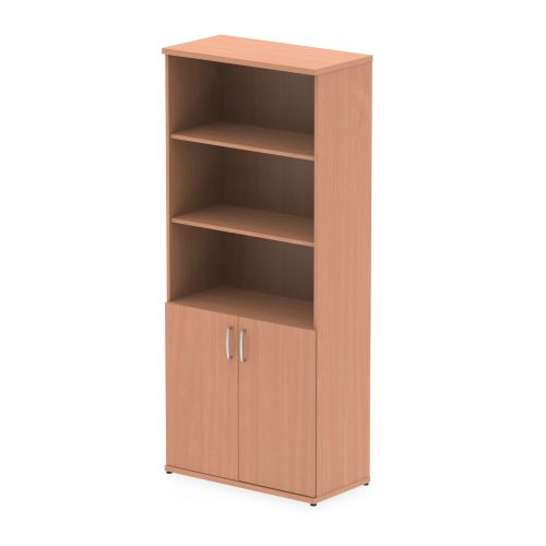 Impulse 2000 Cupboard Open Shelves Beech
