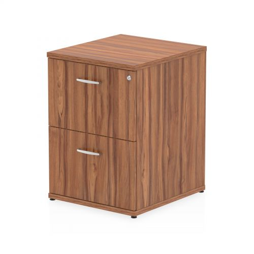 Impulse Filing Cabinet 2 Drawer Walnut