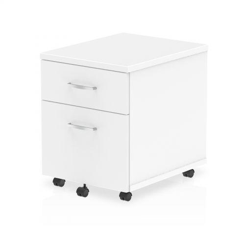 Impulse Mobile Pedestal 2 Drawer White