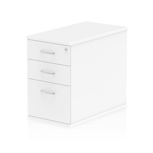 Impulse 800 Desk High Pedestal 3 Drawer White