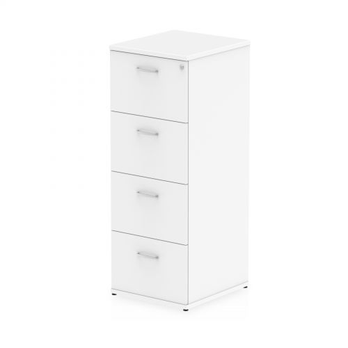 Impulse Filing Cabinet 4 Drawer White
