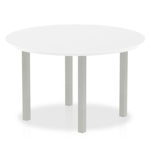 Impulse 1200 round Meeting Table White