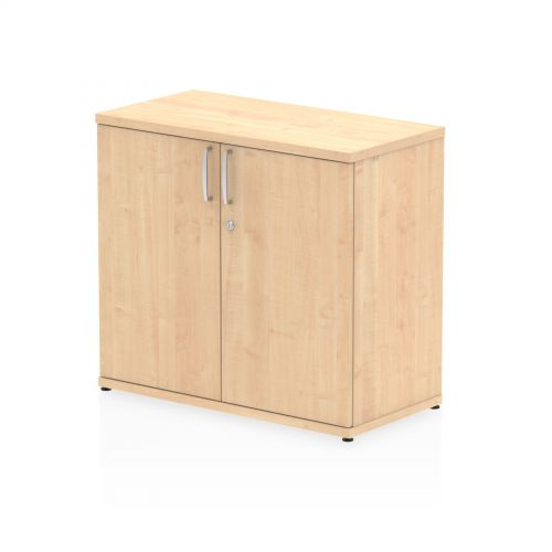 Impulse 600mm deep Desk High Cupboard Maple