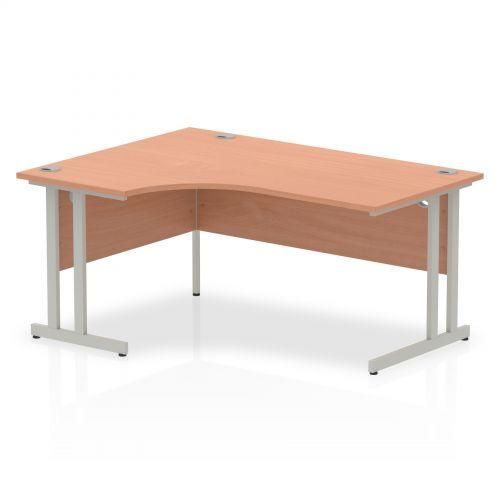Impulse Cantilever 1600 Left Hand Crescent Desk Beech