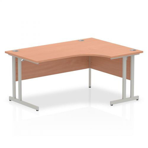 Impulse Cantilever 1600 Right Hand Crescent Desk Beech