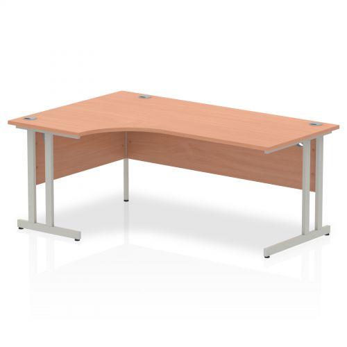 Impulse Cantilever 1800 Left Hand Crescent Desk Beech