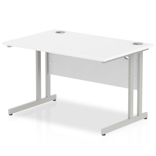 Impulse Cantilever 1200 Rectangle Desk White