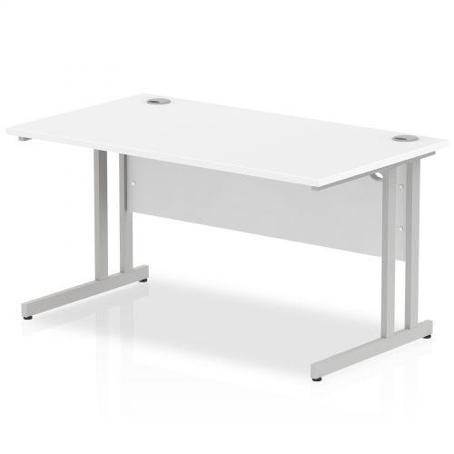 Impulse Cantilever 1400 Rectangle Desk White