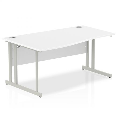 Impulse Cantilever 1600 Left Hand Wave Desk White