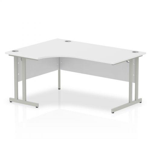 Impulse Cantilever 1600 Left Hand Crescent Desk White