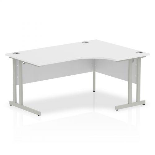 Impulse Cantilever 1600 Right Hand Crescent Desk White