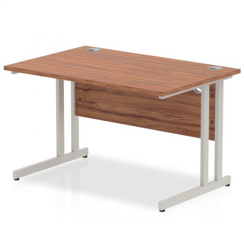 Impulse Cantilever 1200 Rectangle Desk Walnut