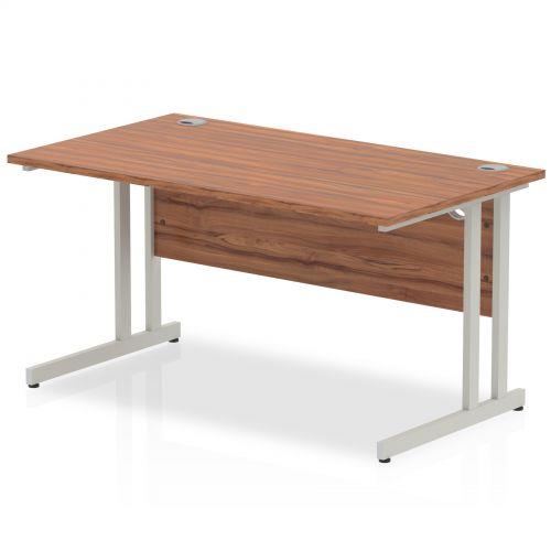 Impulse Cantilever 1400 Rectangle Desk Walnut
