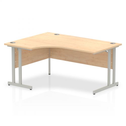 Impulse Cantilever 1600 Left Hand Crescent Desk Maple