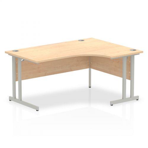 Impulse Cantilever 1600 Right Hand Crescent Desk Maple