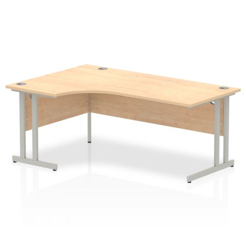 Impulse Cantilever 1800 Left Hand Crescent Desk Maple