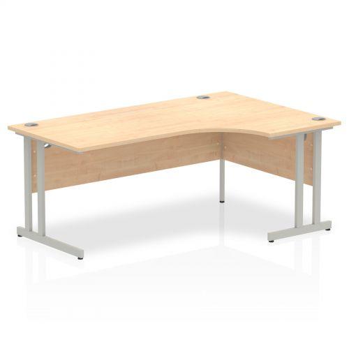 Impulse Cantilever 1800 Right Hand Crescent Desk Maple