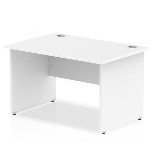 Impulse Panel End 1200 Rectangle Desk White