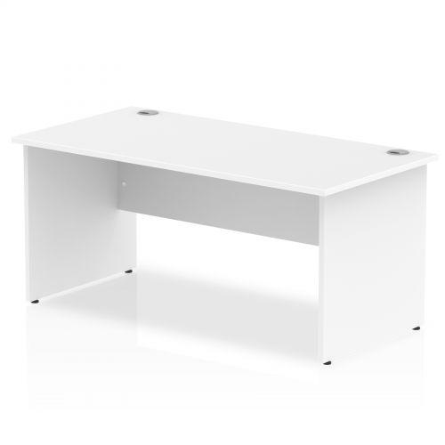 Impulse Panel End 1600 Rectangle Desk White