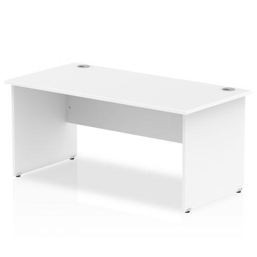Impulse Panel End 1800 Rectangle Desk White