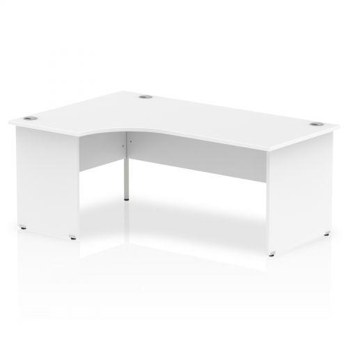 Impulse Panel End 1800 Left Hand Crescent Desk White