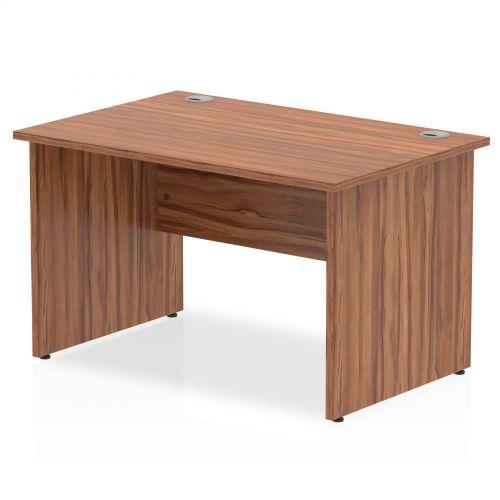 Impulse Panel End 1200 Rectangle Desk Walnut