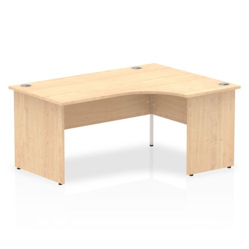 Impulse Panel End 1600 Right Hand Crescent Desk Maple