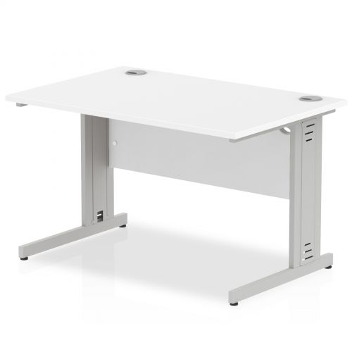 Impulse Cable Managed 1200 Rectangle Desk White