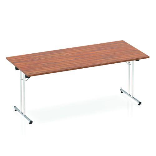 Impulse Folding Rectangular Table 1800 Walnut