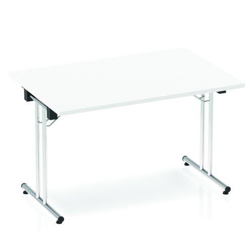 Impulse Folding Rectangular Table 1200 White