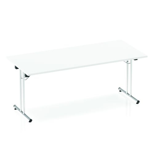 Impulse Folding Rectangular Table 1800 White