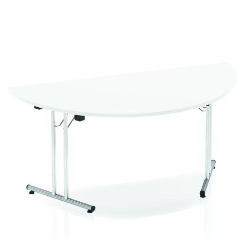 Impulse Folding Semicircle Table 1600 White