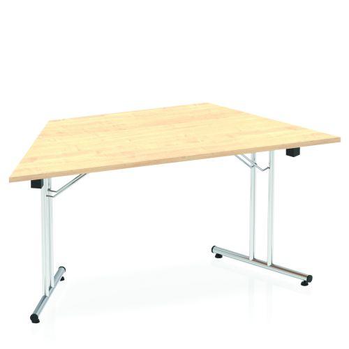 Impulse Folding Trapezium Table 1600 Maple