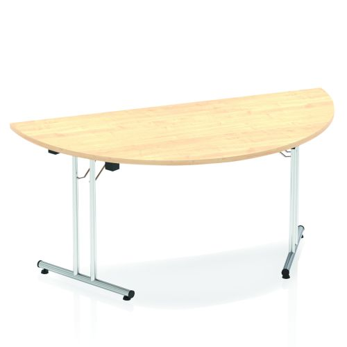 Impulse 1600 Folding Semicircle Table Maple