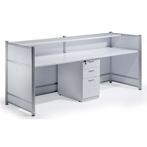 Reception Desk High Gloss White