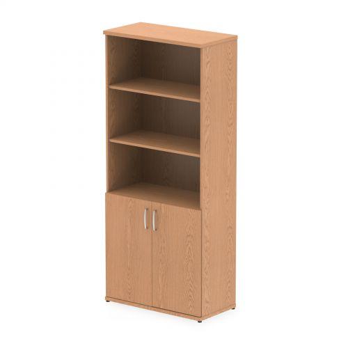 Impulse 2000 Cupboard Open Shelves Oak
