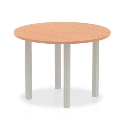 Impulse Round Meeting Table 1000 Oak