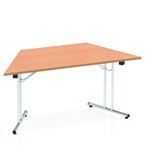 Impulse Folding Trapezium Table 1600 Oak