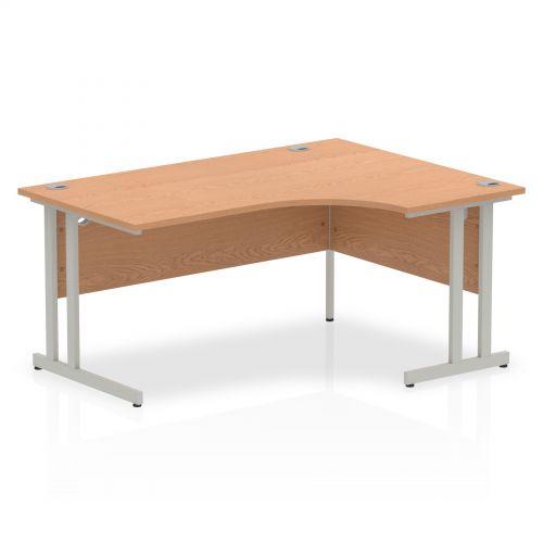 Impulse Cantilever 1600 Right Hand Crescent Desk Oak