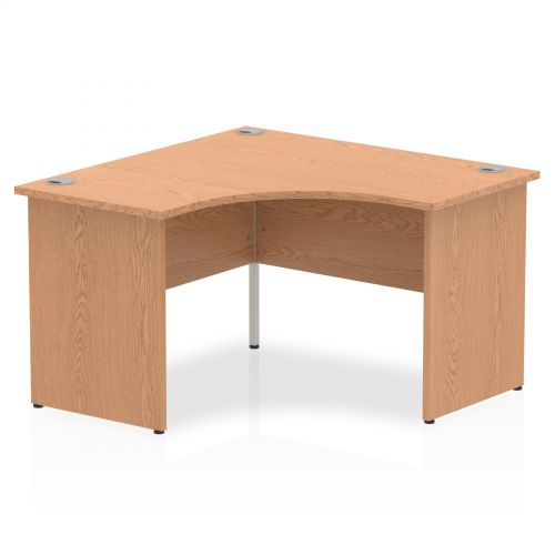 Impulse Panel End 1200 Call Centre Desk Oak