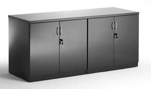 Credenza 1600 Cupboard High Gloss Black