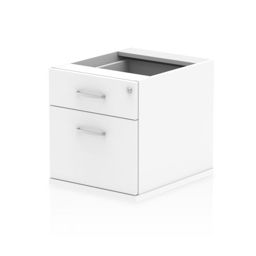 Impulse Fixed Pedestal 2 Drawer White